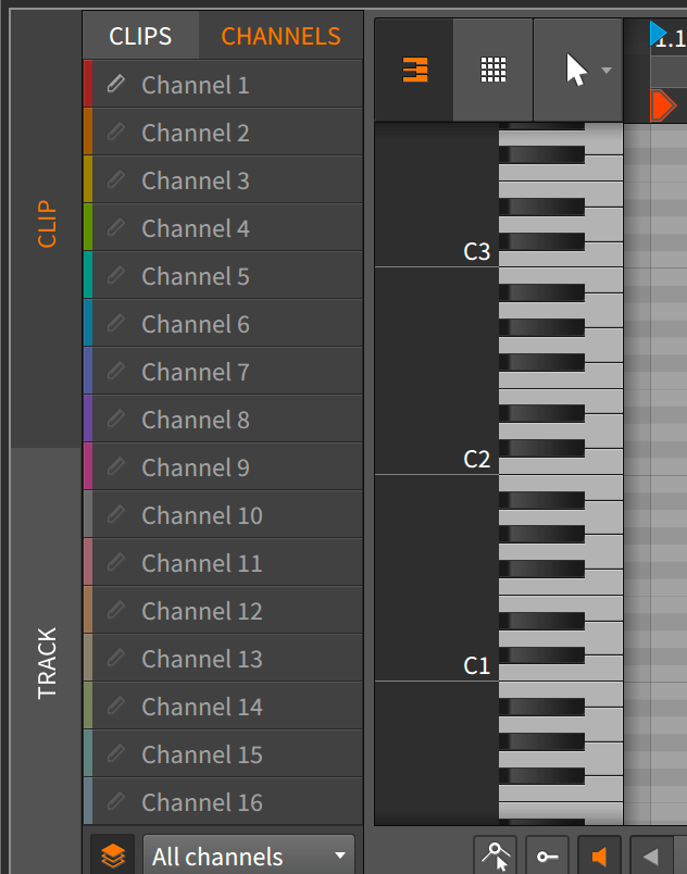 MIDI Channel Support
