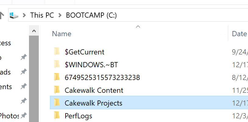 c:\CakewalkProjects