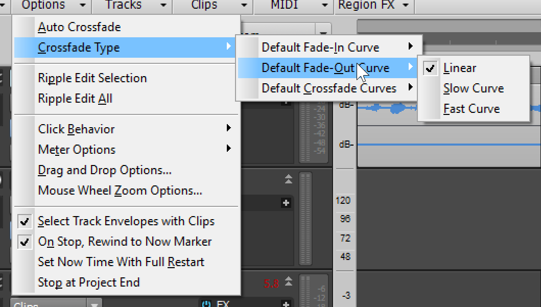 Crossfade tool... is nowhere