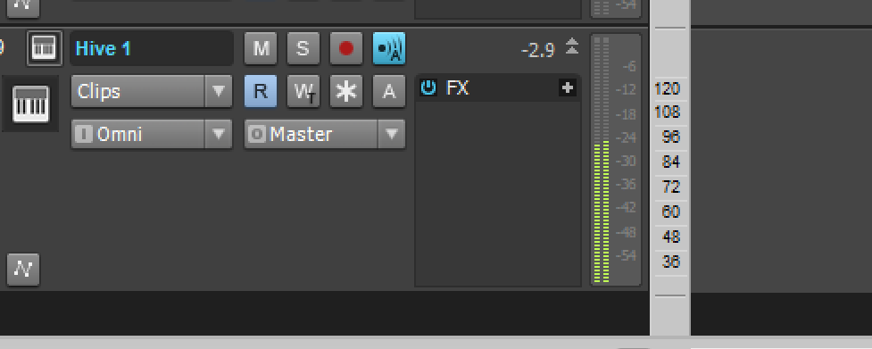 Playback is stopped, no MIDI is present