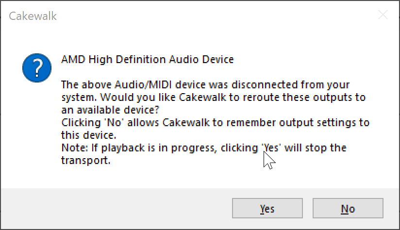 New Audio Device?