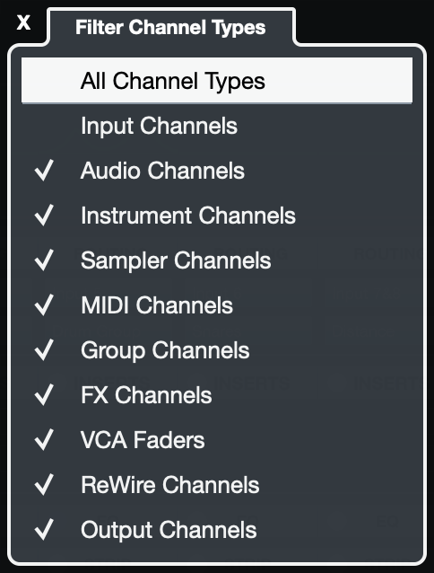 Channel Filters