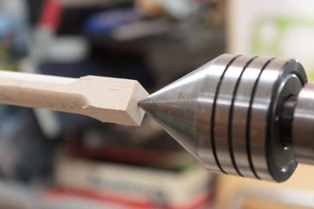 Centered on the lathe