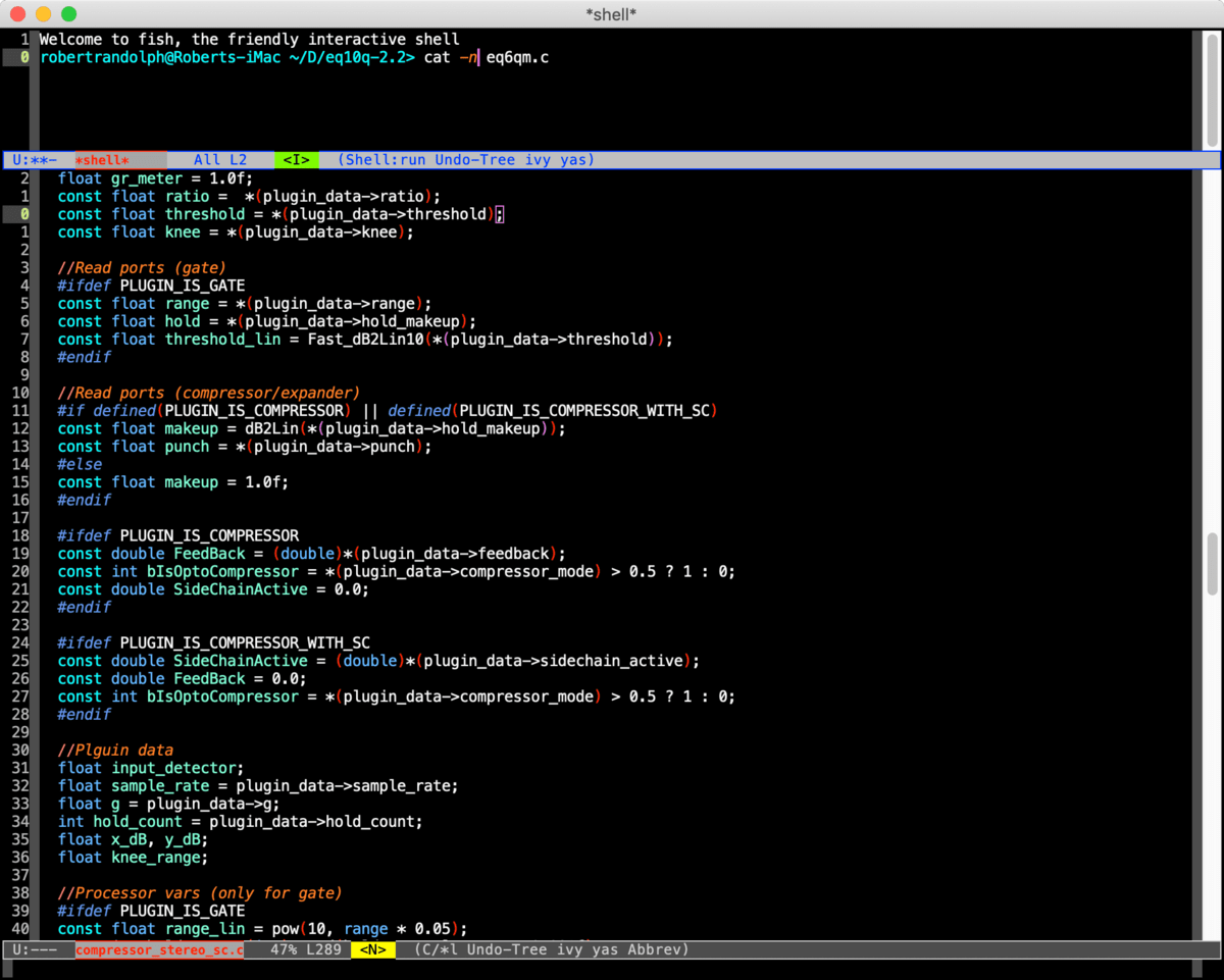 Integrated Terminal/Shell (Emacs)