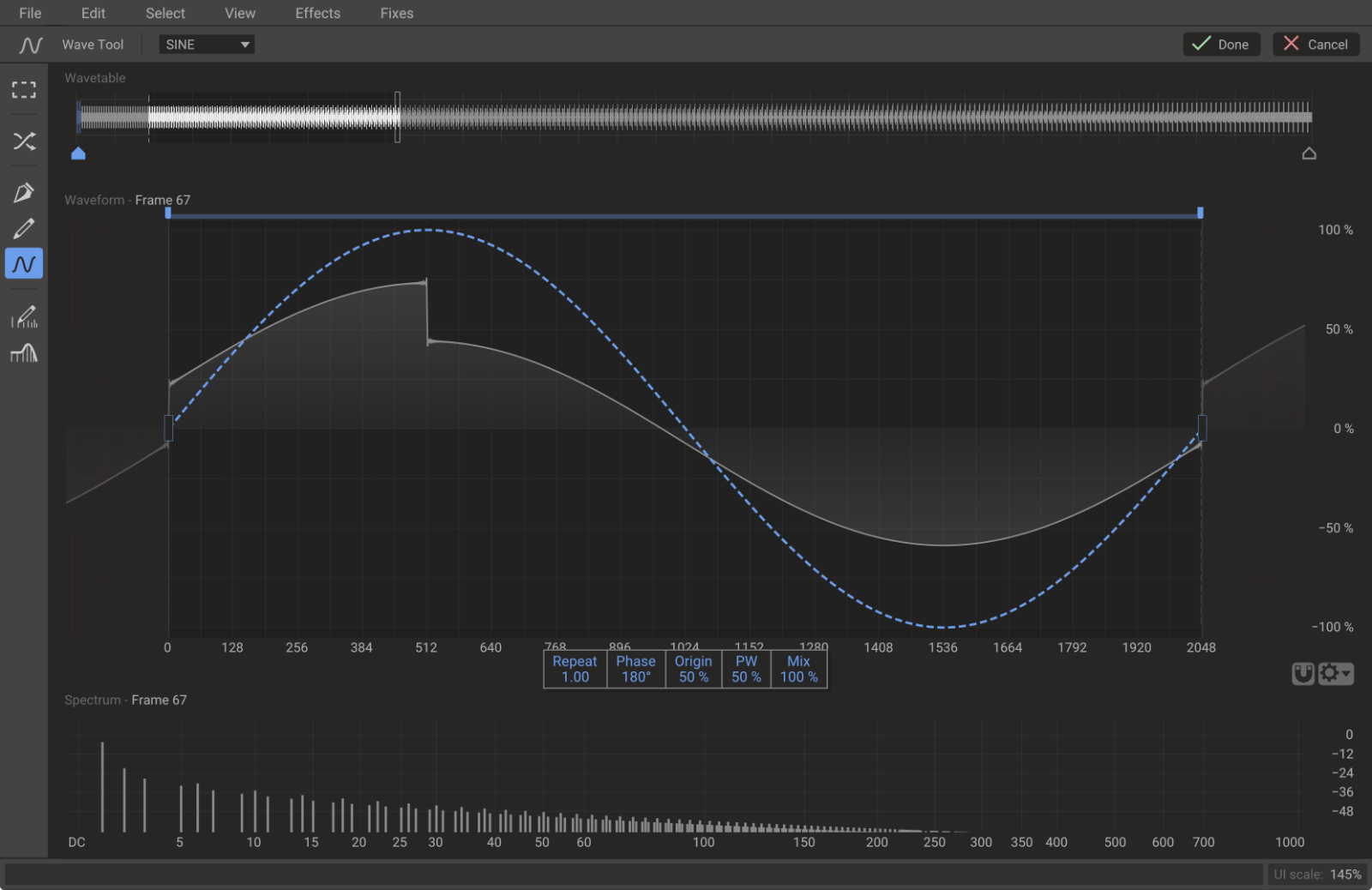 Wavetable Editor