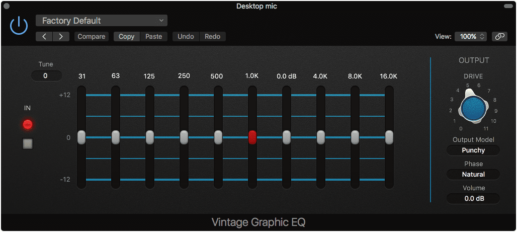 Vintage Graphic EQ