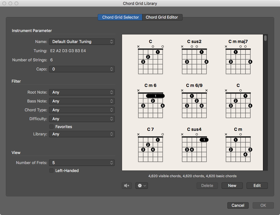 Chord Grid Library