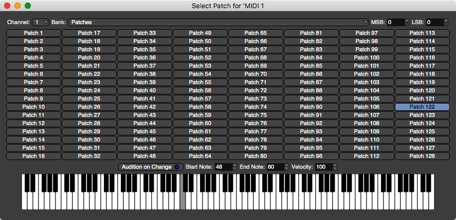 Patch Selector