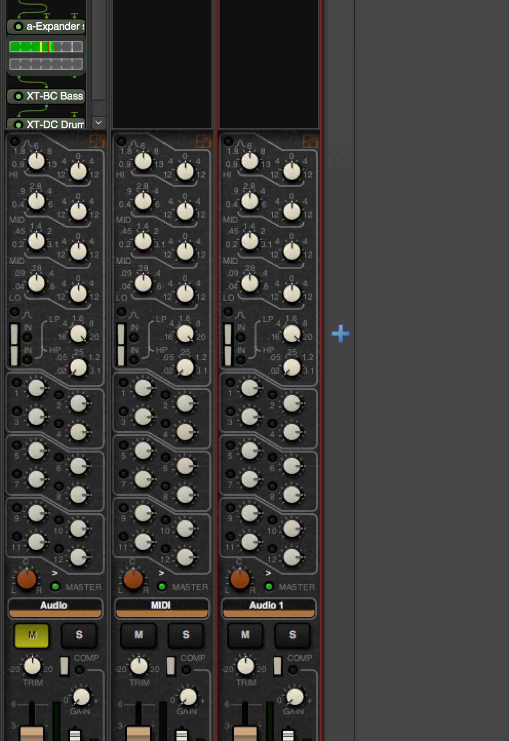 Add Track in the Mixer