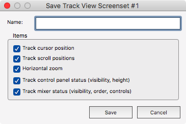 Track View Save