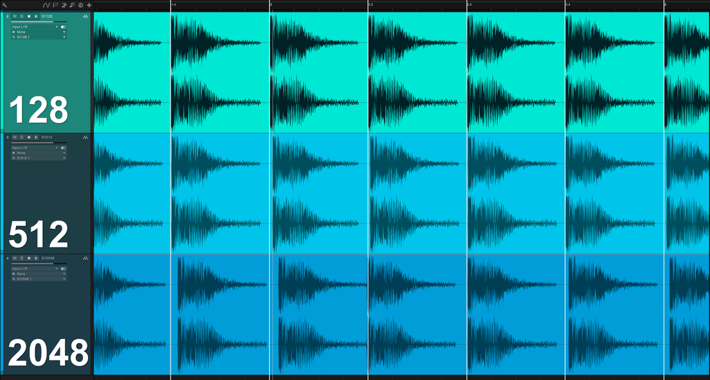 Audio Buffer Size Variations