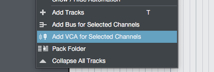 Every DAW needs VCAs, and S1 provides them.